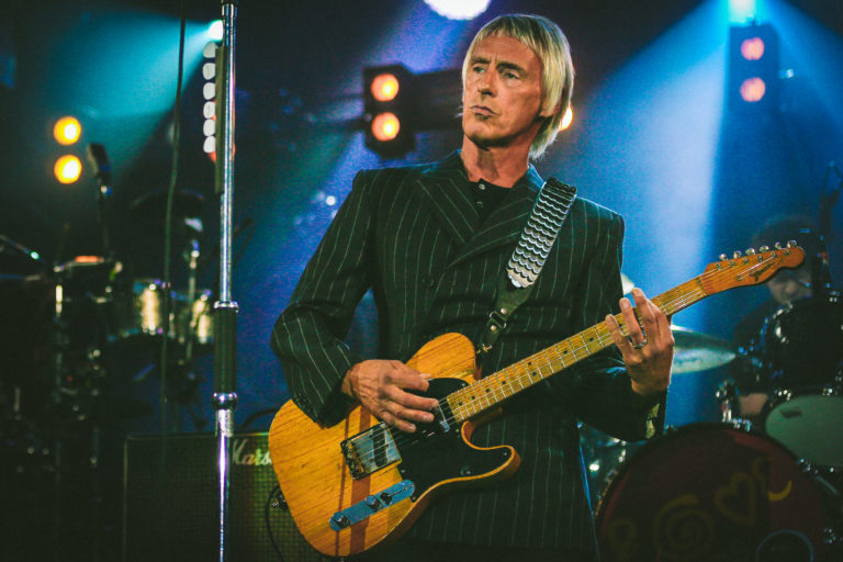 Paul Weller live by Celebrity music photographer Wes Simpson