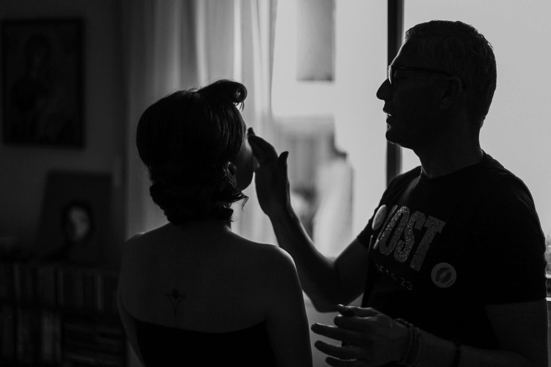 Bridal preparations make up photos for Greek Orthodox wedding Larnaca Cyprus by photographer Wes Simpson