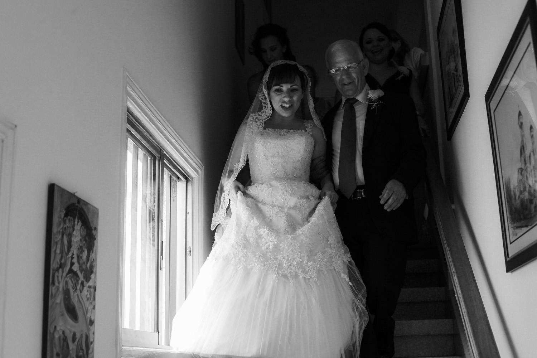 Dressing the bride for Greek Orthodox wedding Larnaca Cyprus by wedding photographer Wes Simpson