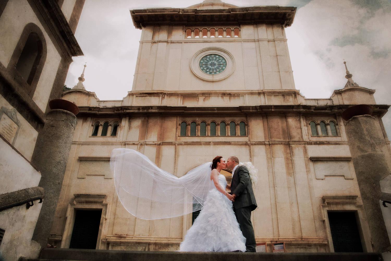 Bride and Groom, wedding Positano, Amalfi Coast