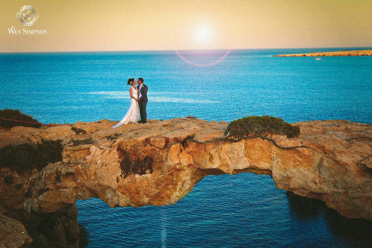 Love bridge, Cape greco, Cyprus, Wedding photographer, Wes simpson