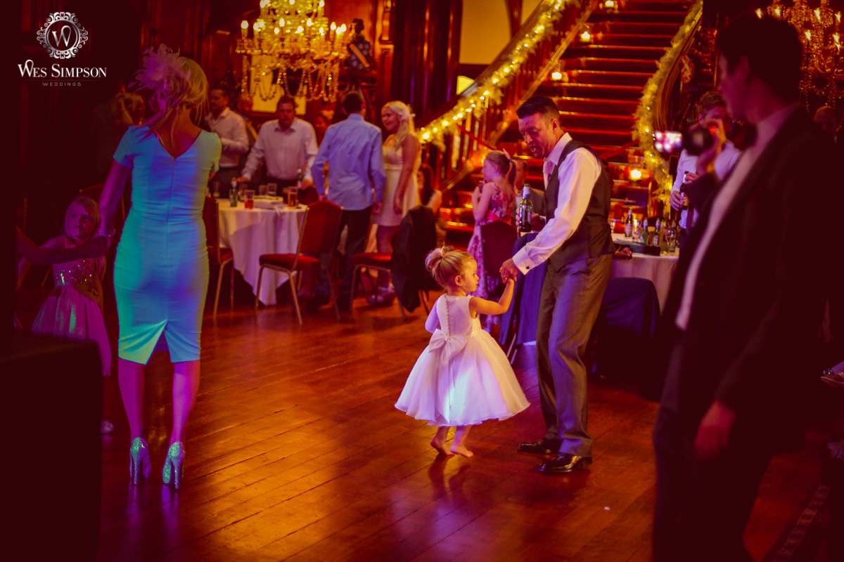 Little girl, dancing, father, wedding, Wes simpson, Photographer