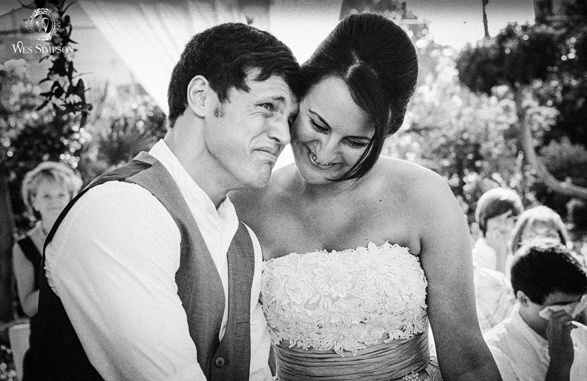 Capo Bay Emotional Wedding Photographer Crying Groom Wes Simpson