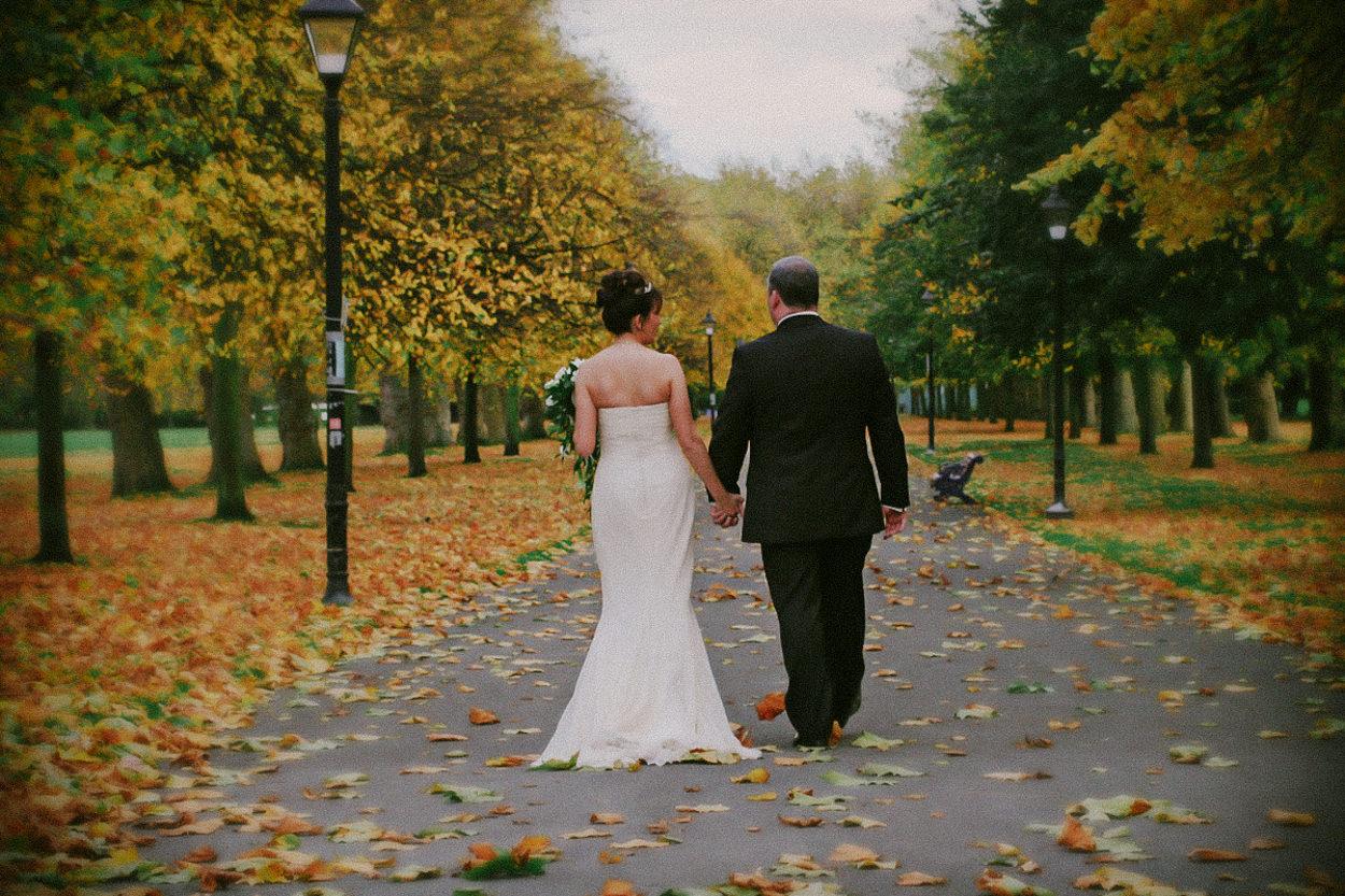 Winter wedding, Autumn wedding, Sefton Park Liverpool