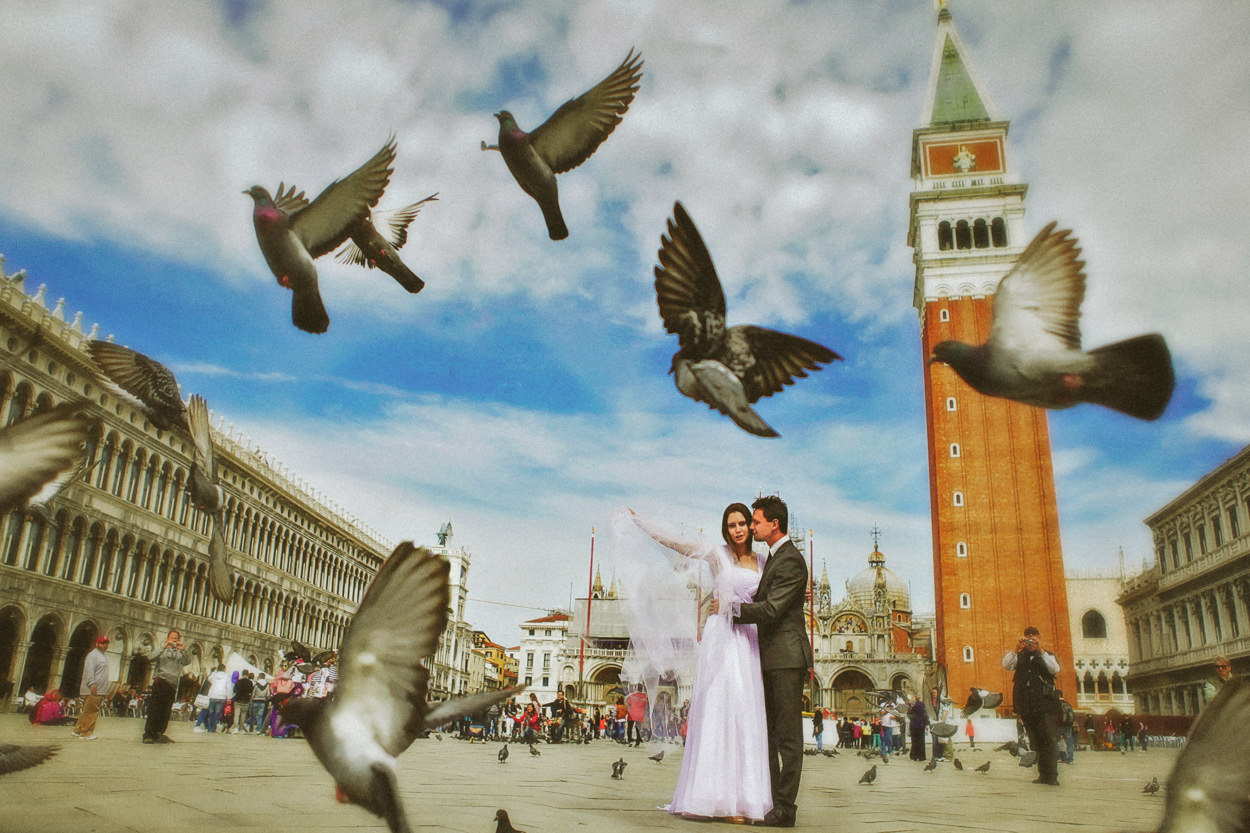 St Marks Square Venice,Italy wedding photographer -Wes Simpson