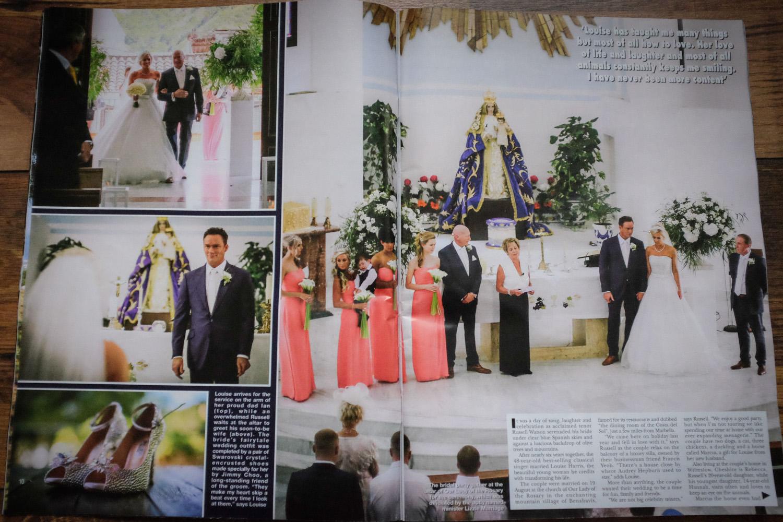 Hello! magazine wedding photographer, Russell Watson wedding