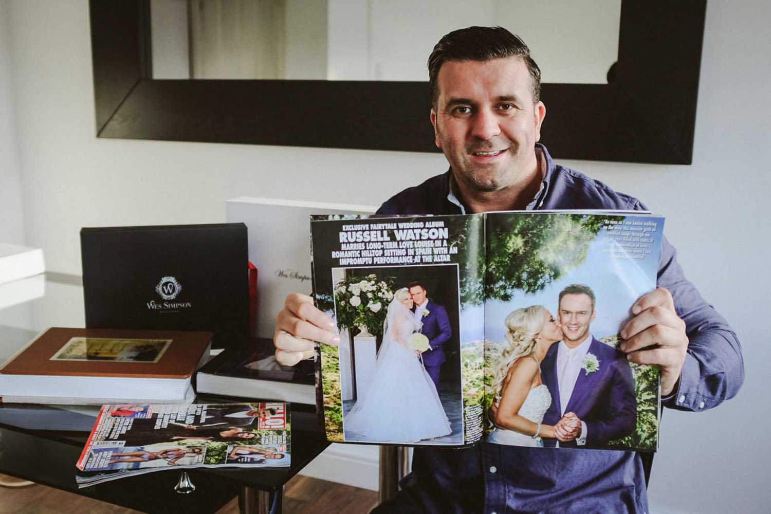 Wes Simpson Liverpool Celebrity wedding photographer. Celebrity wedding Photographer - Hello magazine