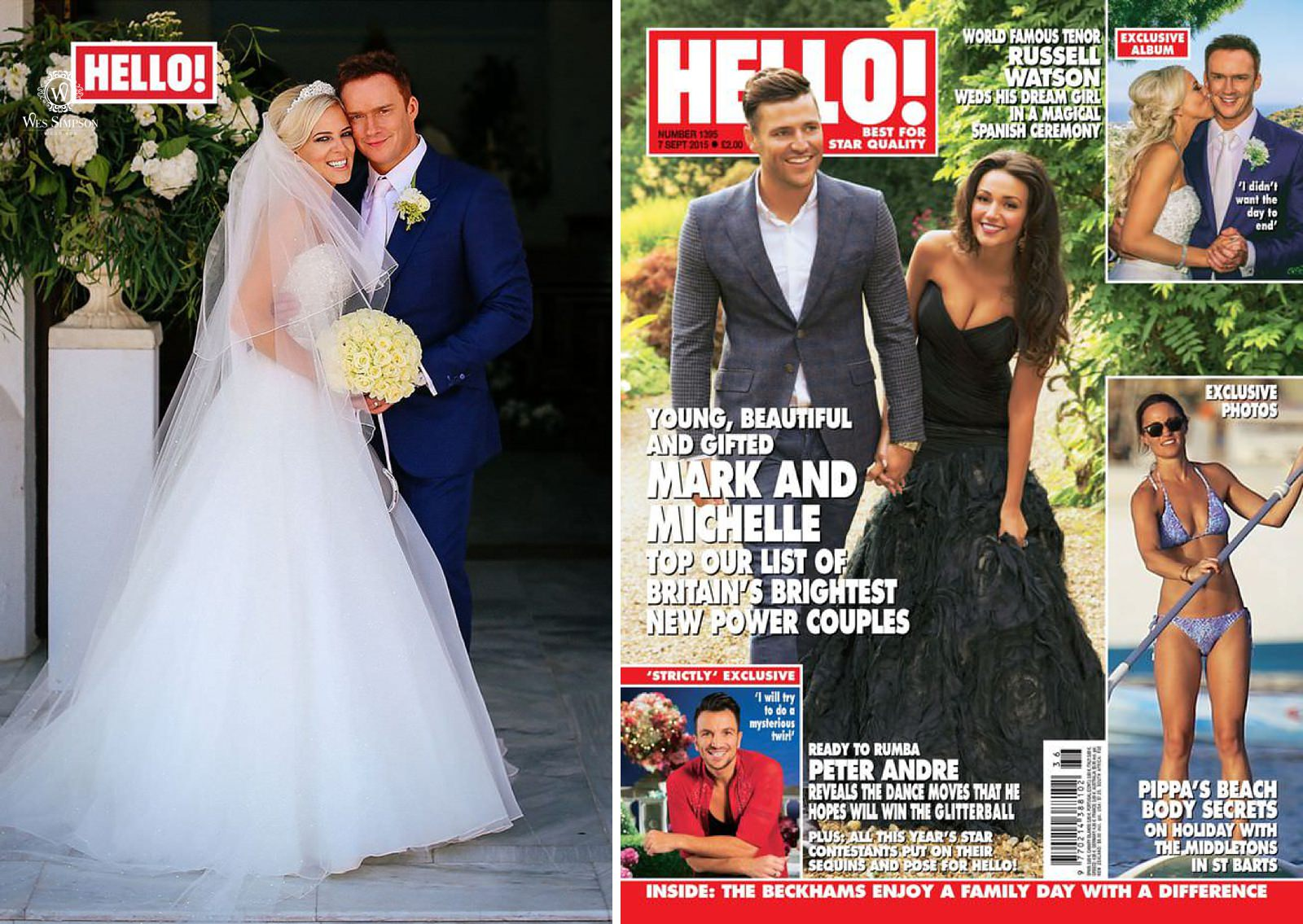 Liverpool Celebrity wedding photographer, Liverpool Echo feature from Hello! Magazine