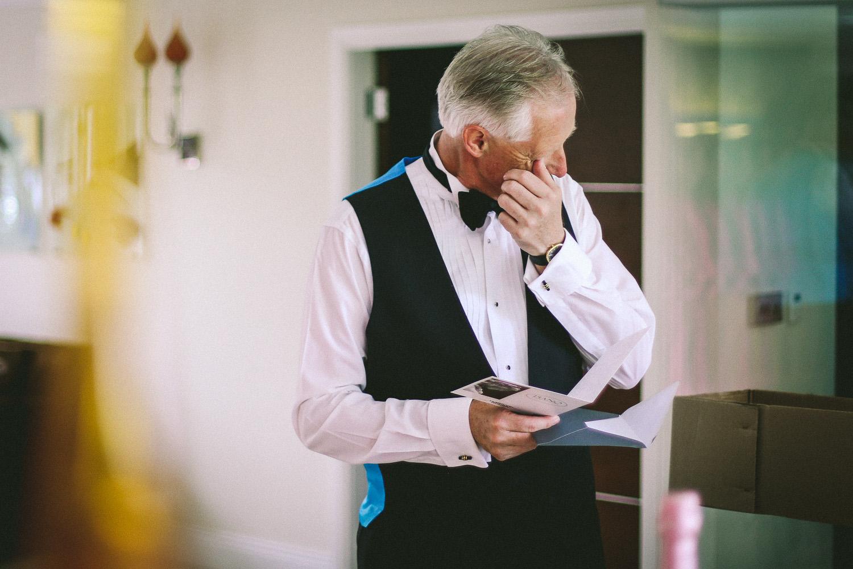 Emotion father of bridal Lancashire wedding Wrea Green