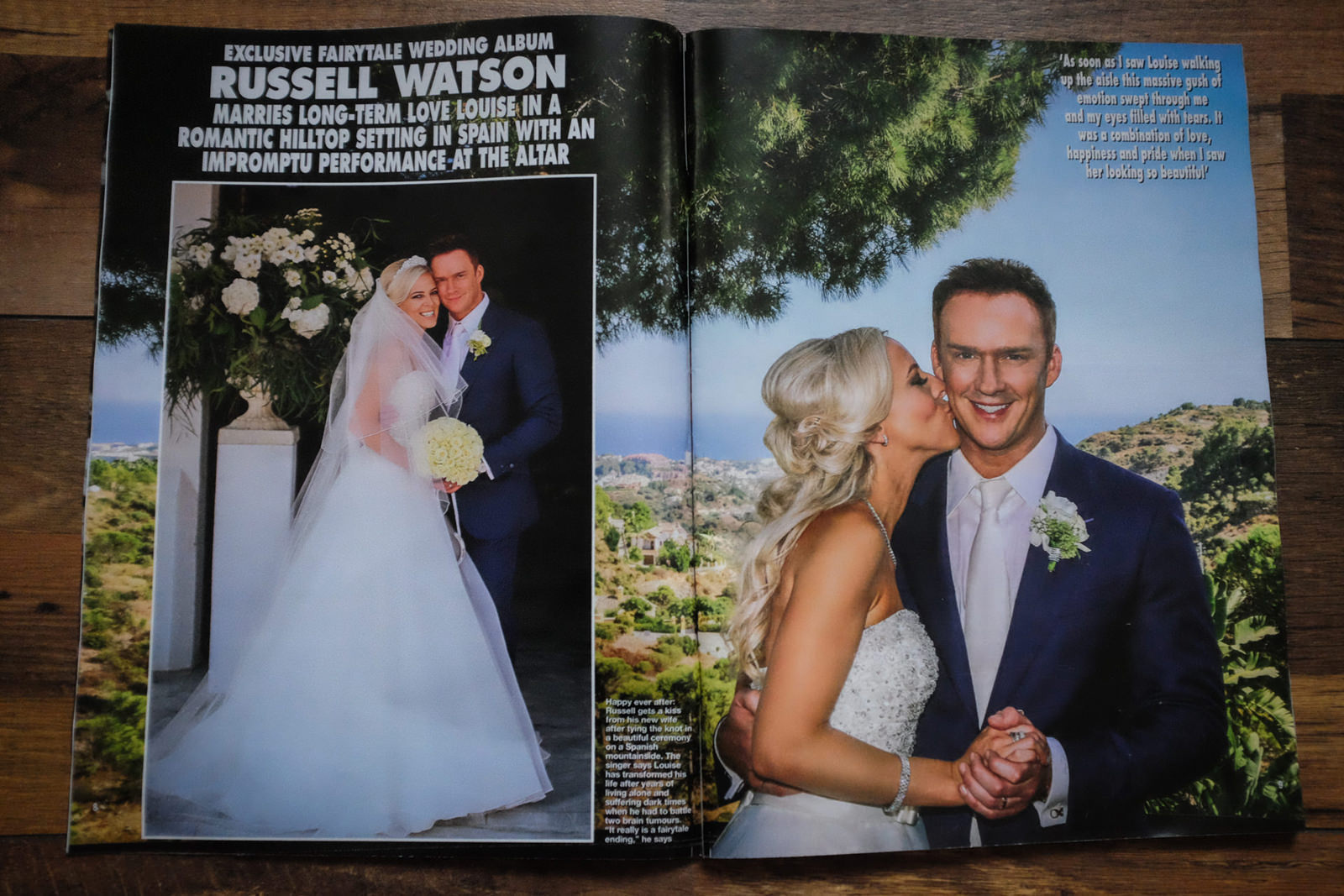 Liverpool Celebrity wedding photographer | Hello magazine, Russell Watson wedding