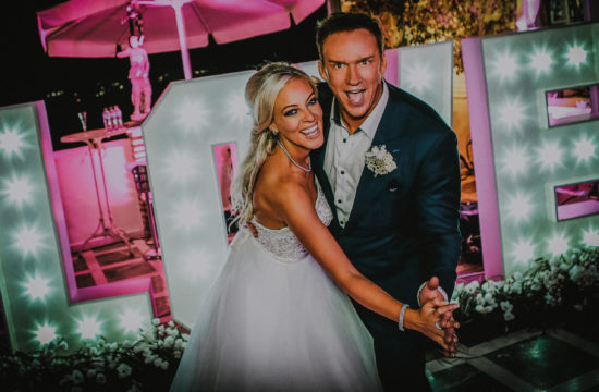 Celebrity destination wedding photography Russell Watson wedding