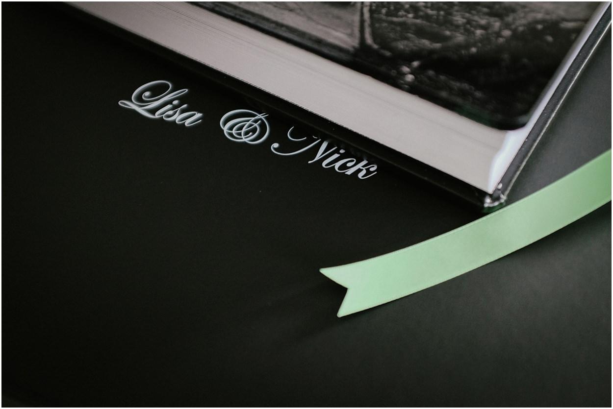 Broadoaks wedding album, front cover