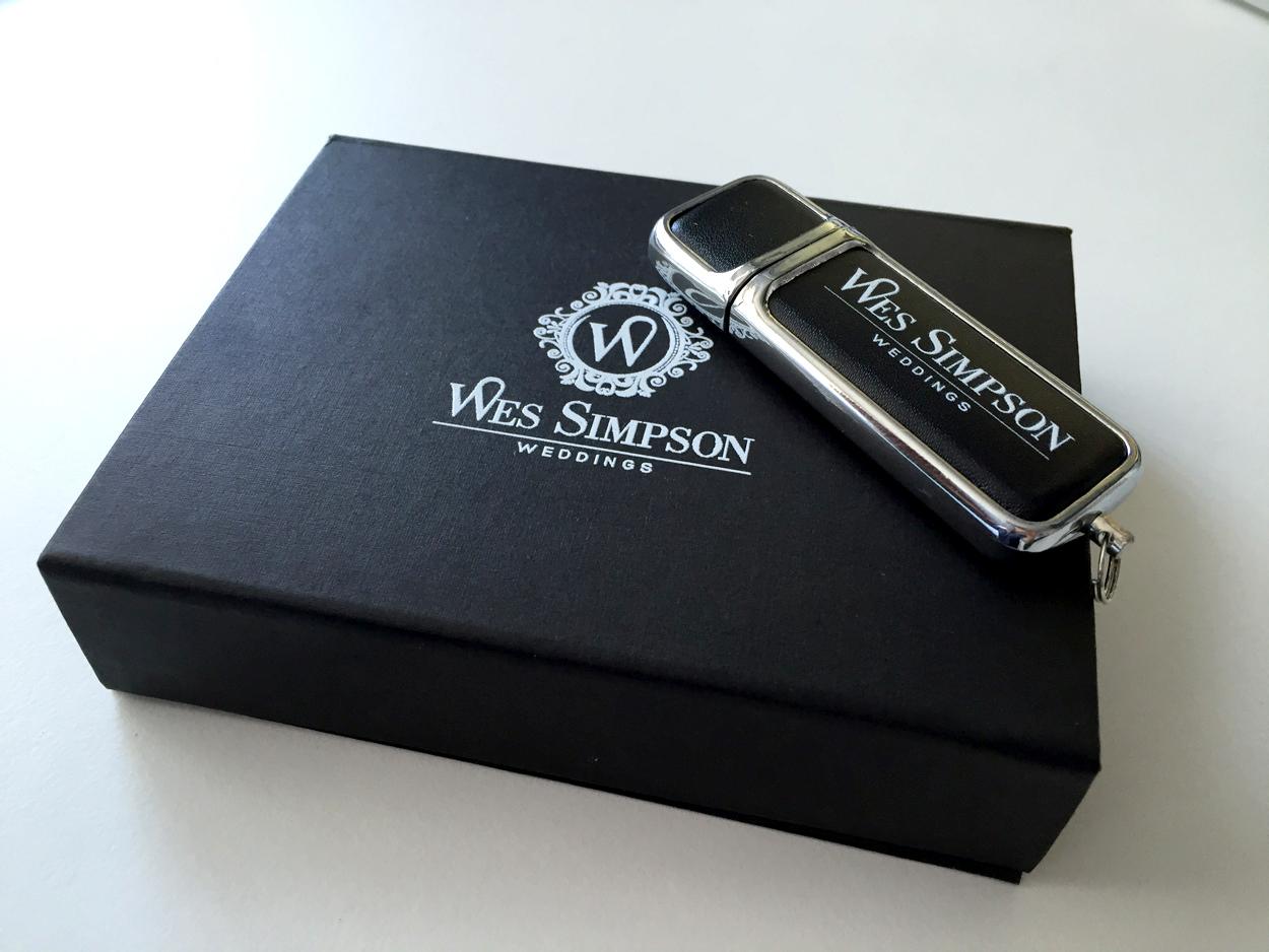 Wes Simpson wedding photography USB option