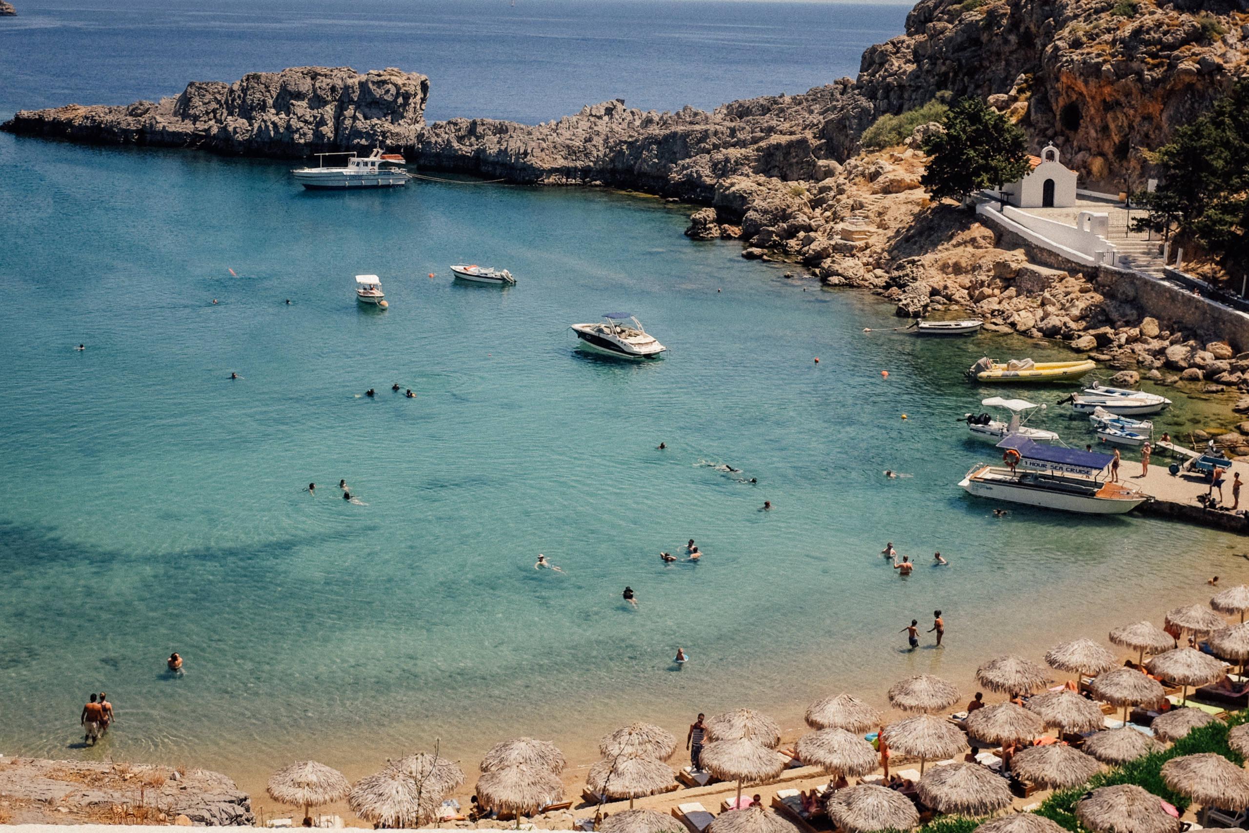 Lindos pre-wedding boat party lindos Greece
