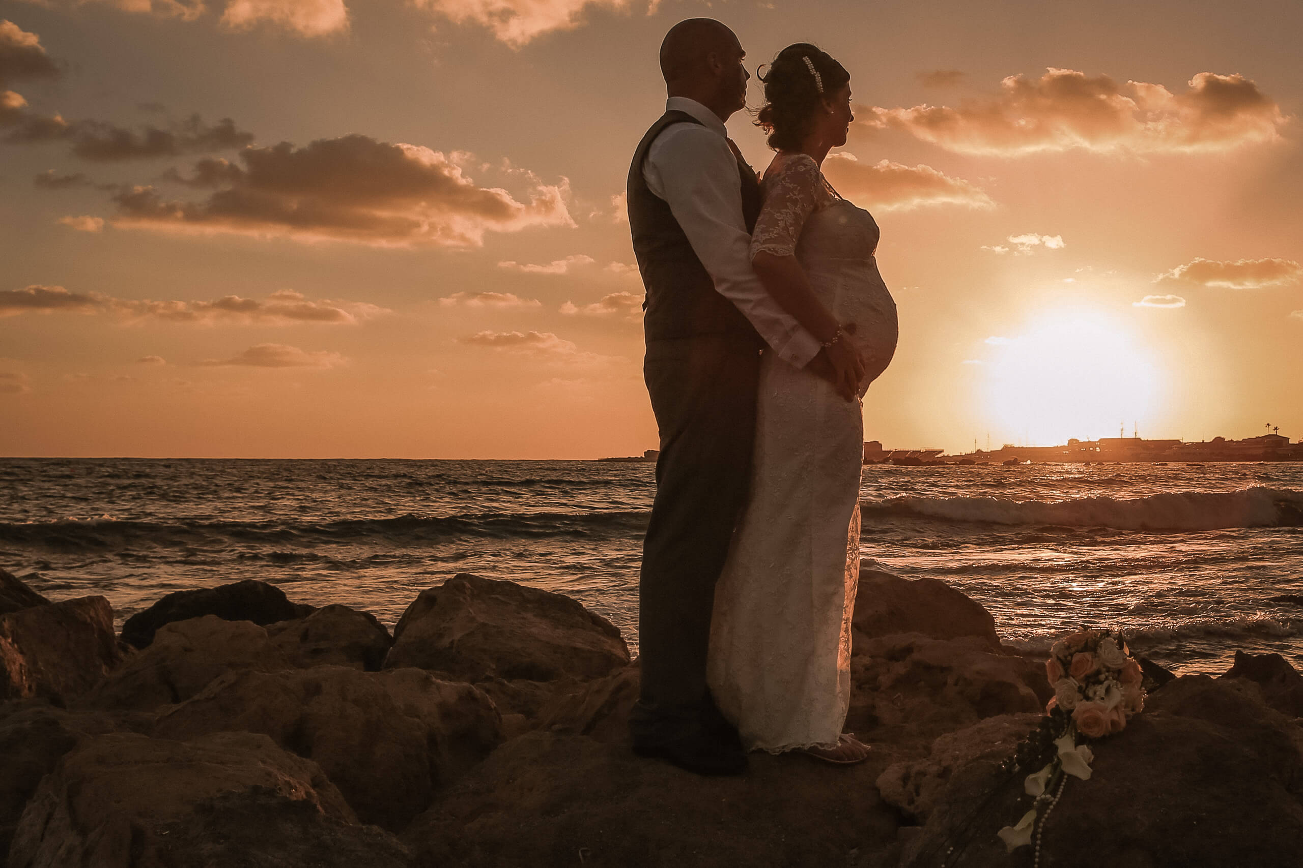 Sunset Pregnant wedding photography portrait Annabelle Hotel