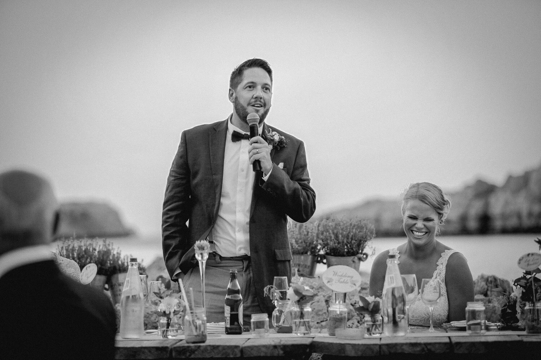 Wedding speeches St Paul's Bay Lindos wedding photography