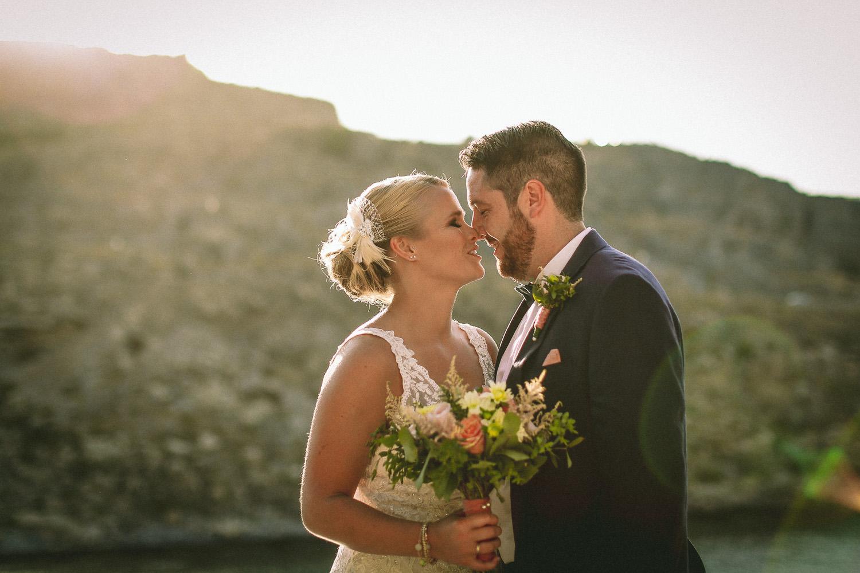 Lindos wedding ceremony St Pauls Bay by wedding photographer Wes Simpson