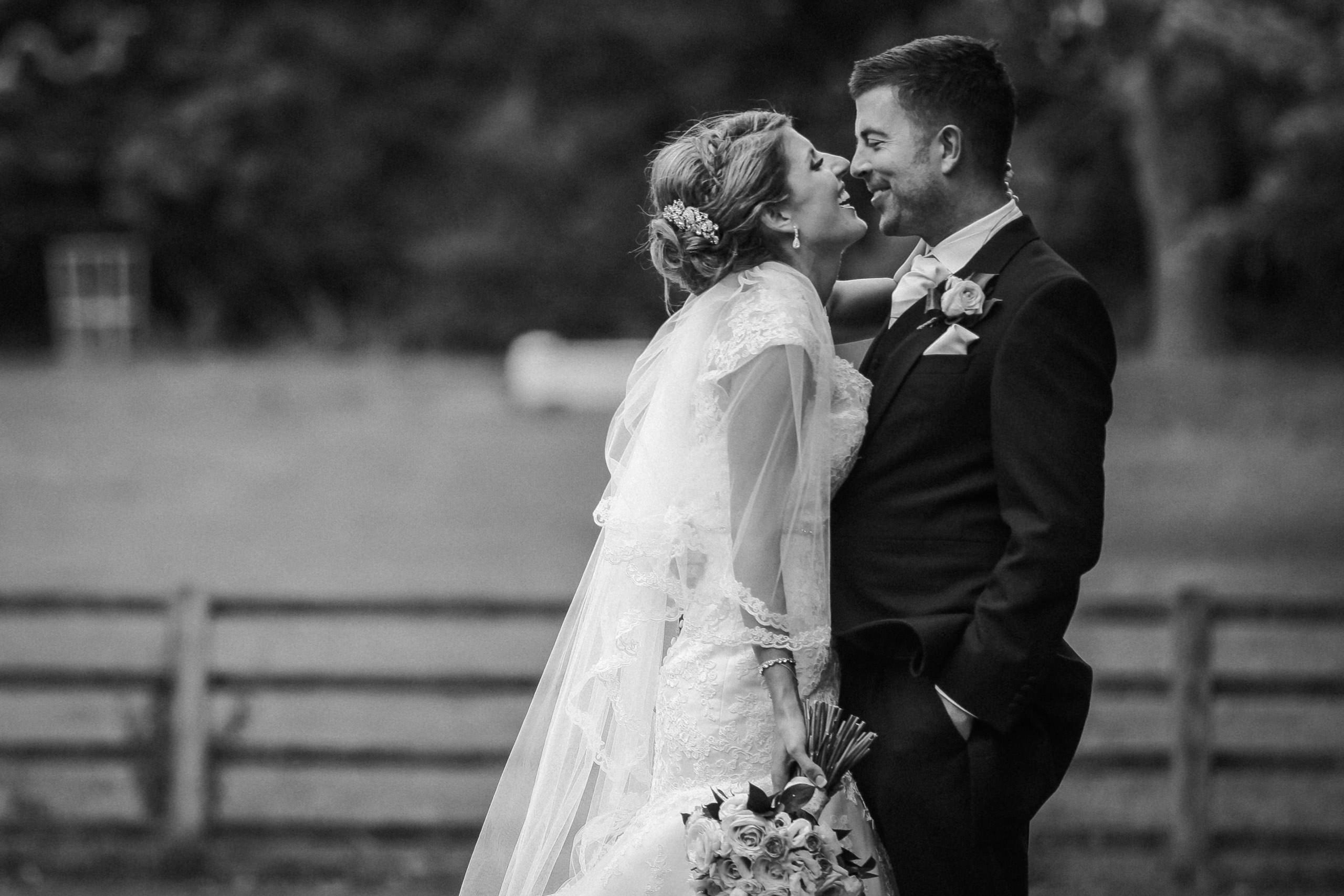 Happy Bride and Groom Soughton Hall Cheshire wedding