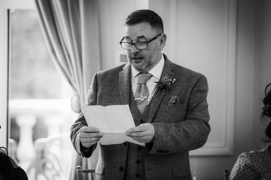 Father of bride making speech ashfield house