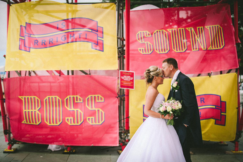 Bride and Groom Pier Head wedding Hilton Liverpool