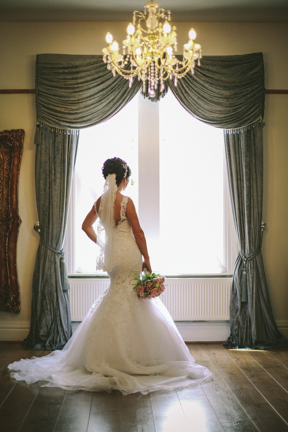Bride at Country house wedding venue West Tower
