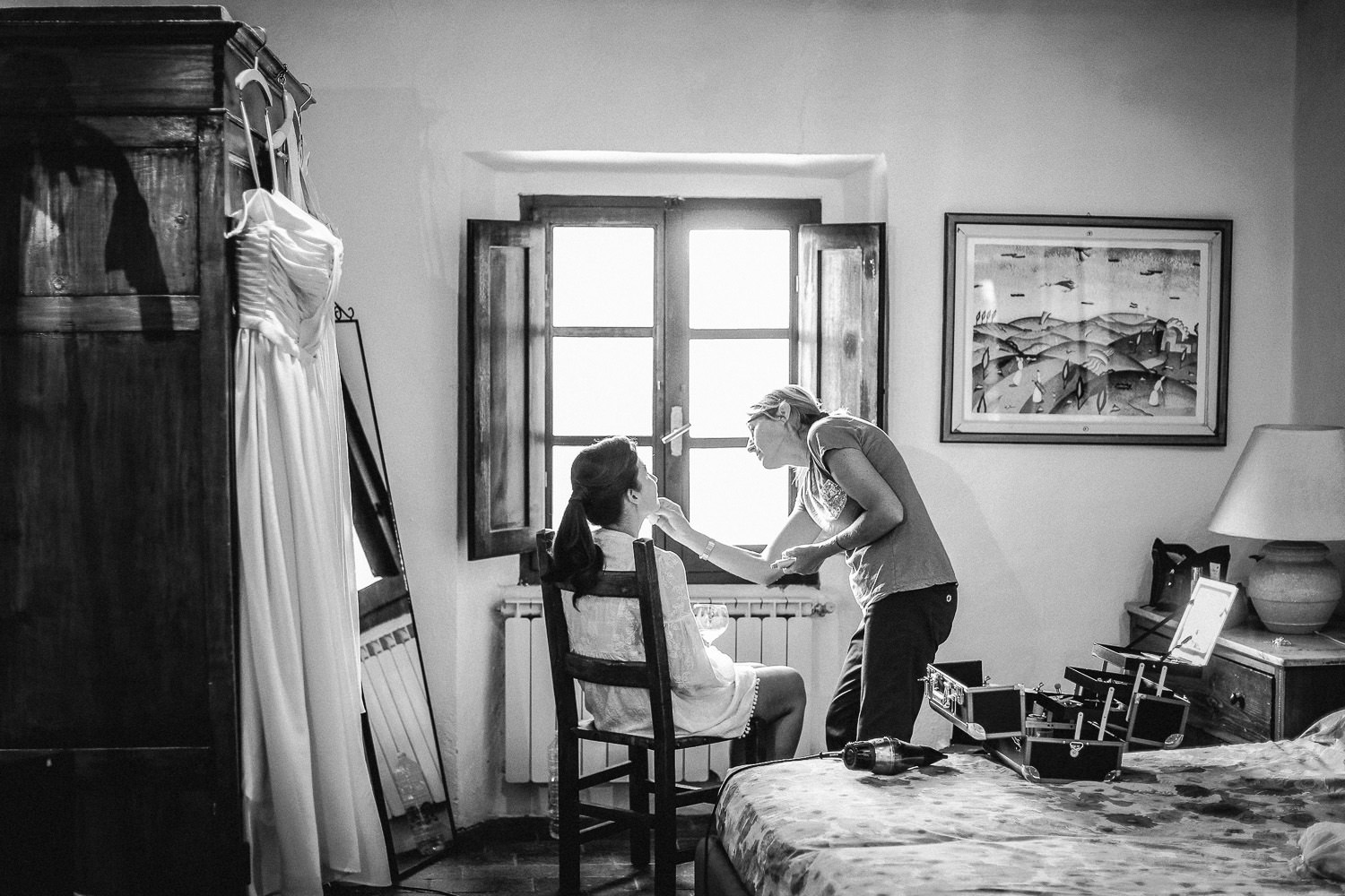 Bridal preparations Fattoria la Loggia