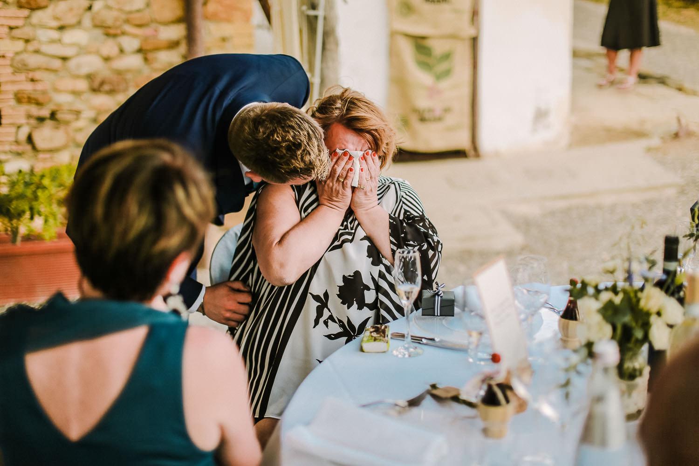 Wedding speeches Fattoria la Loggia wedding in Tuscany