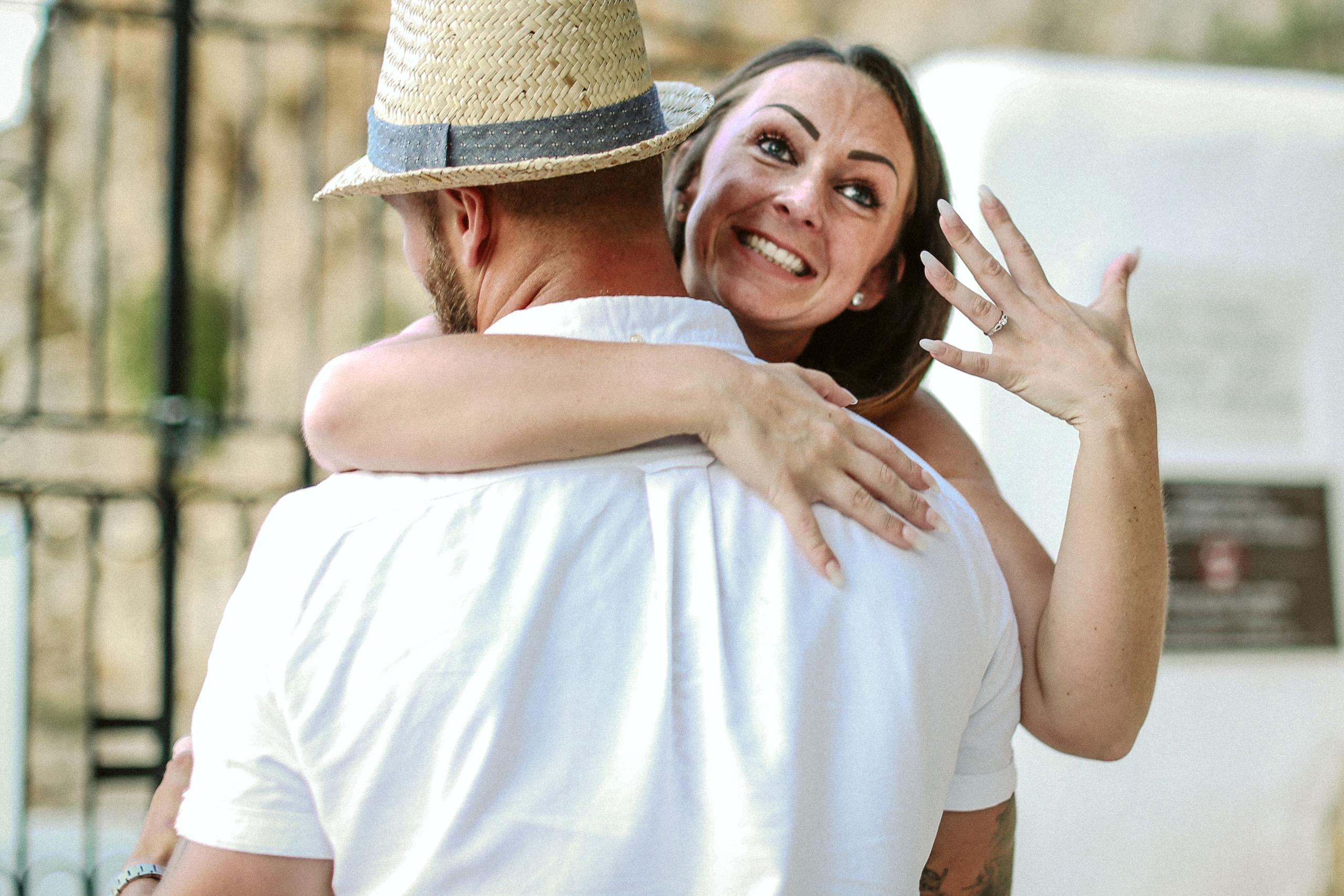 Engagement photo shoot lands St Pails bay wedding photography proposal