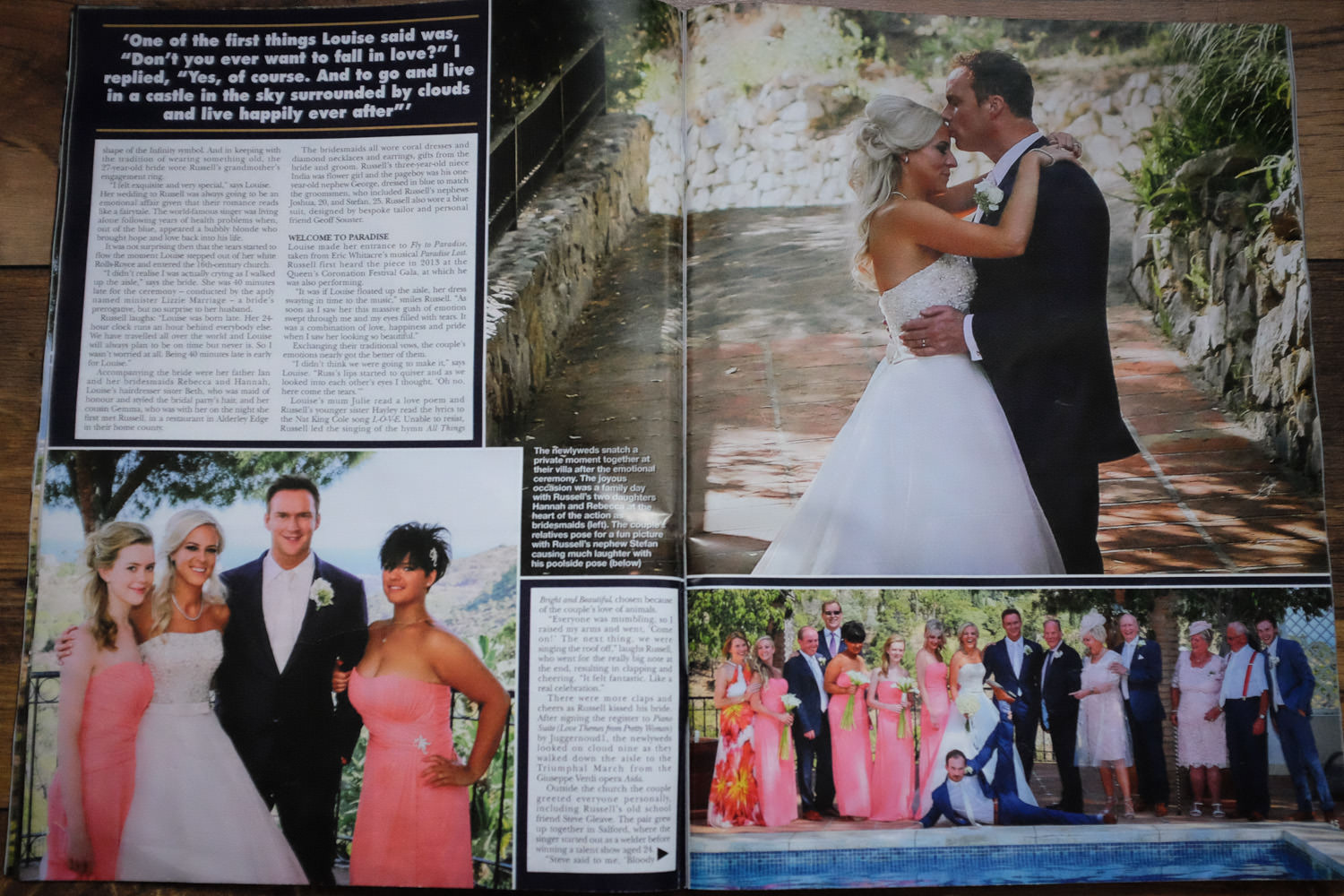 EXCLUSIVE FAIRYTALE CELEBRITY WEDDING IN HELLO! MAGAZINE | Destination wedding | celebrity wedding