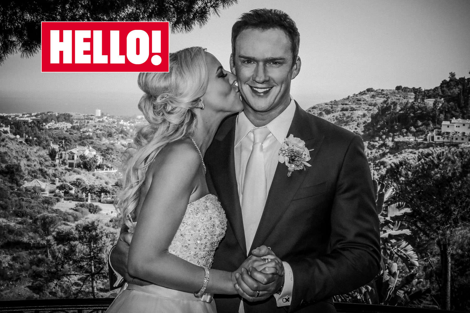 Celebrity wedding feature, Russell Watson Hello! Photographer Wes simpson