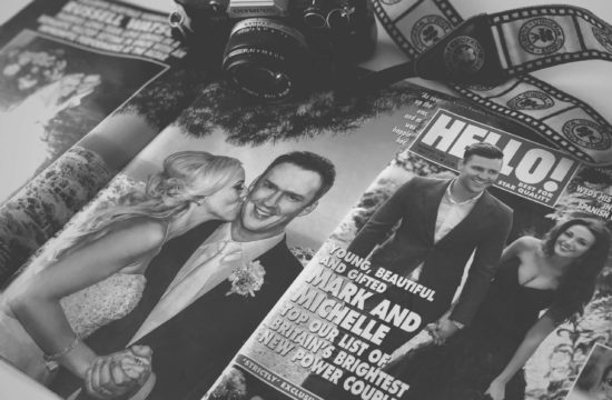 Hello! magazine wedding photographer coverage of Russell Watson wedding by Wes Simpson