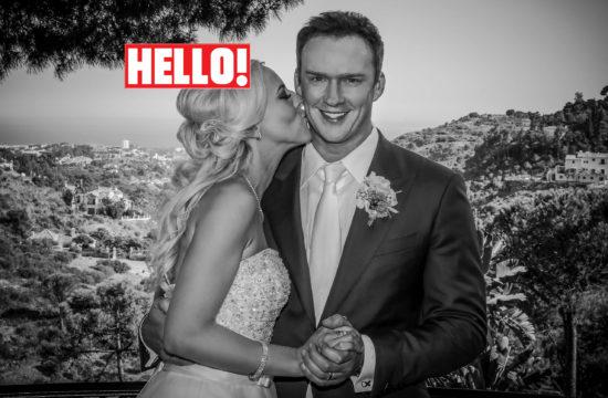 Celebrity wedding of Russell Watson in Hello magazine