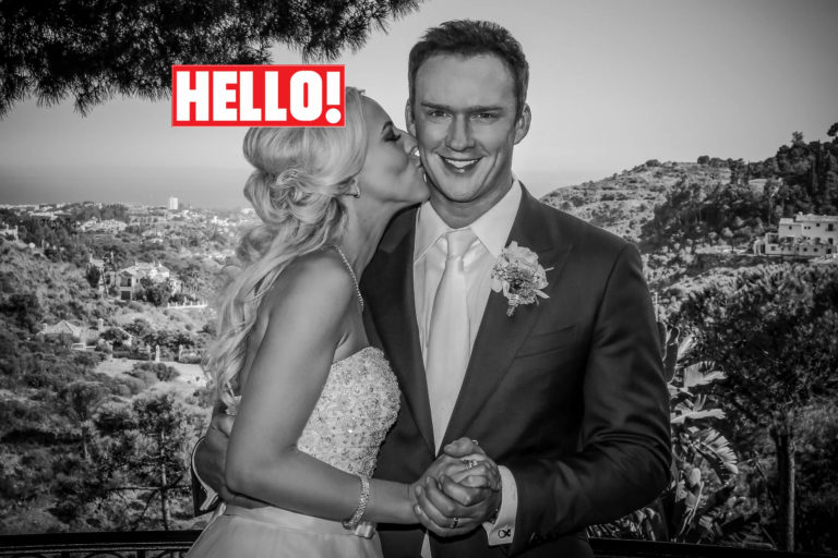 Celebrity wedding of Russell Watson in Hello magazine
