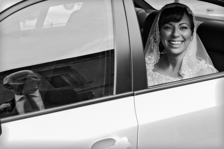 Bride arriving Church Saint Lazarus Larnaca Cyprus