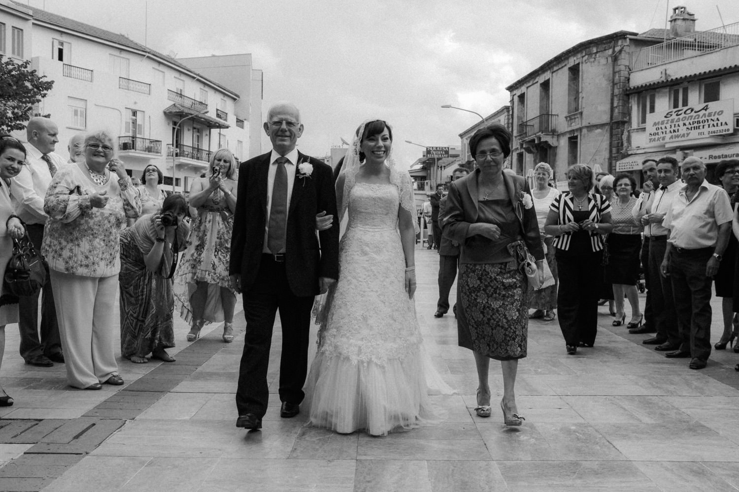 Bride arriving Church Saint Lazarus Larnaca Cyprus