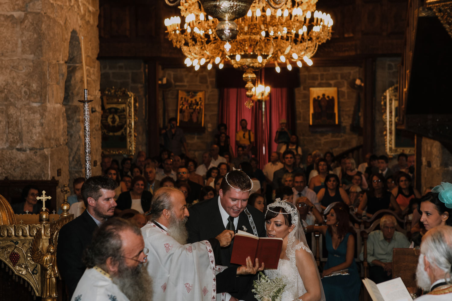 Greek Wedding Traditions: Placing of the crowns - Lazarus Church Cyprus