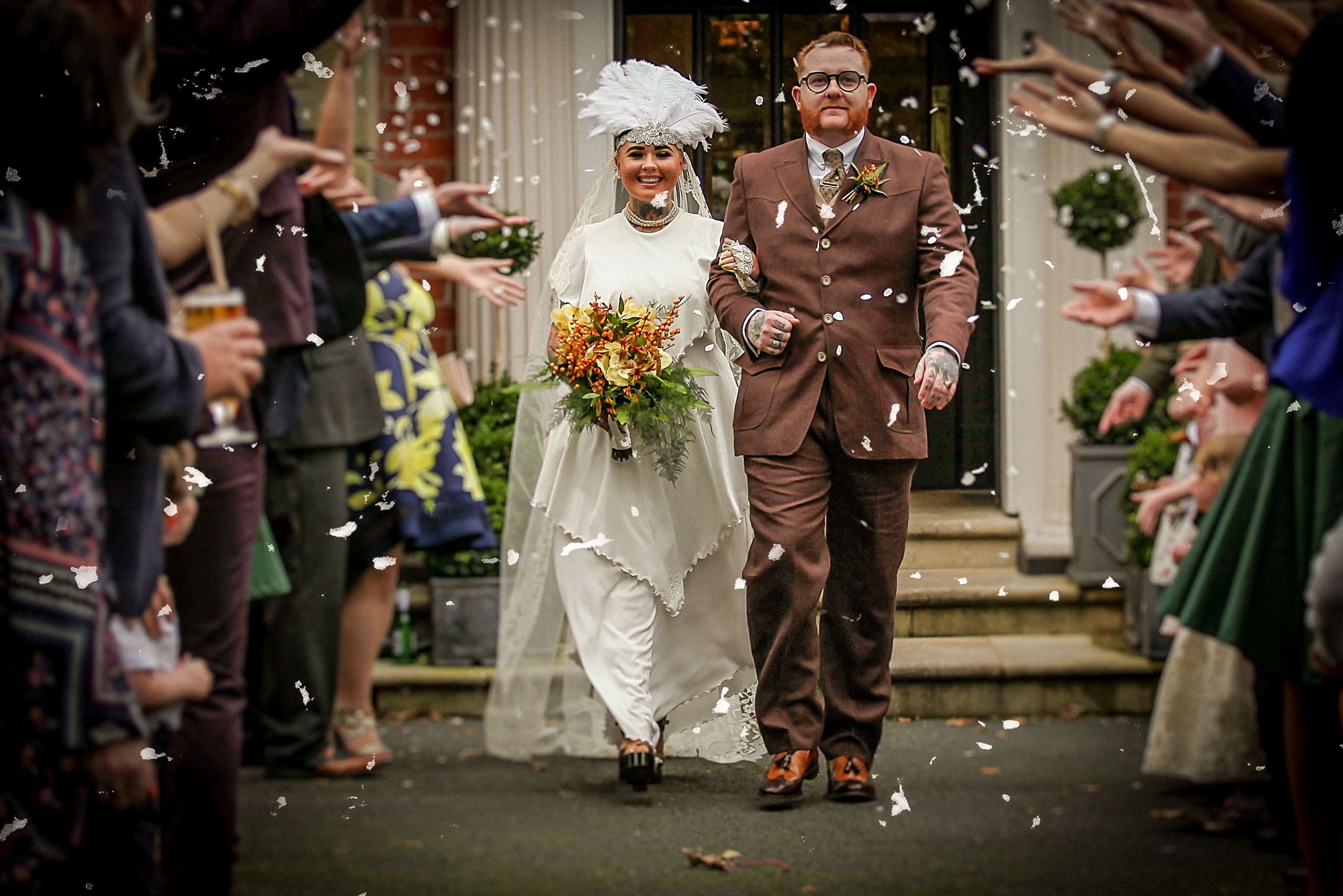 Vintage wedding photographer Ashfield House Lancashire