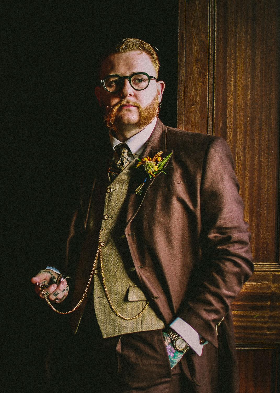 vintage groom at Ashfield House Standish