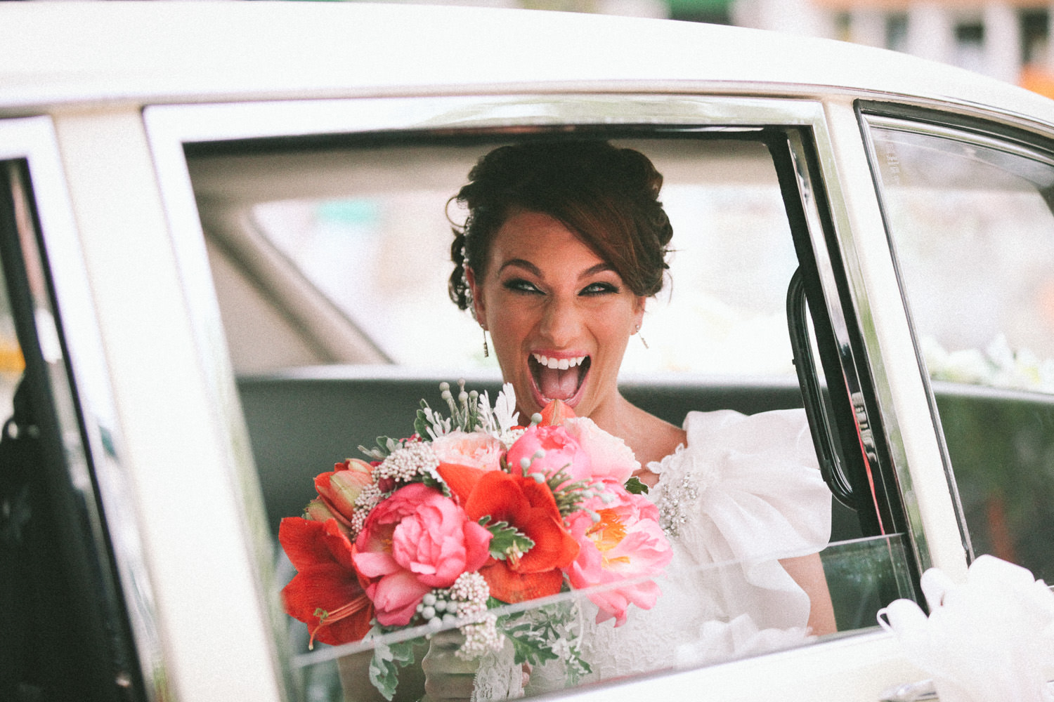 Cost of wedding photography, excited bride