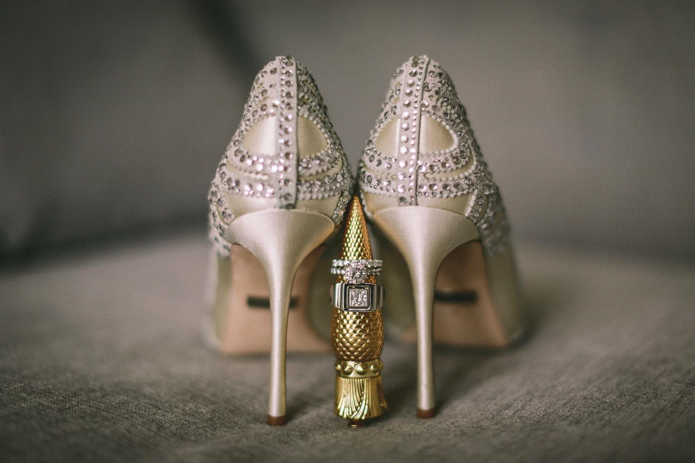 Badgley Mischka wedding shoes wedding photography at Liberty Hotels Lykia