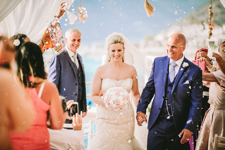 wedding photography at Liberty Hotels Lykia walking down the aisle