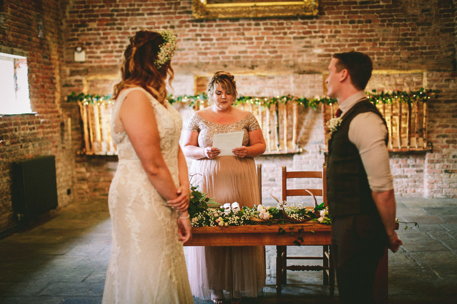 Wedding reception Rustic wedding at Meols Hall Southport