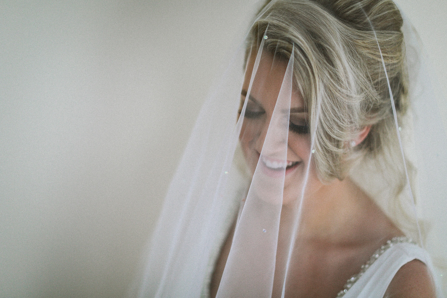 Bride during Wedding preparations at The Kinmel Hotel