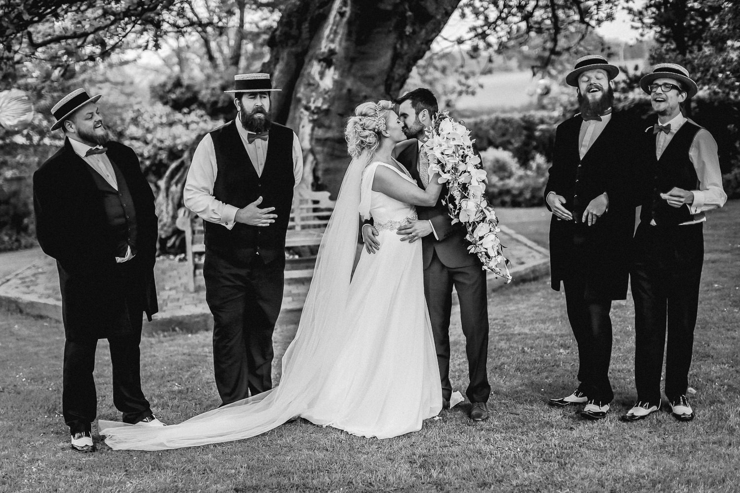 Natural wedding photos at The Kinmel Hotel