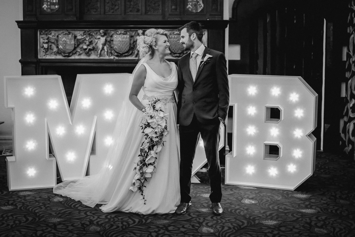 Natural wedding photography at The Kinmel Hotel