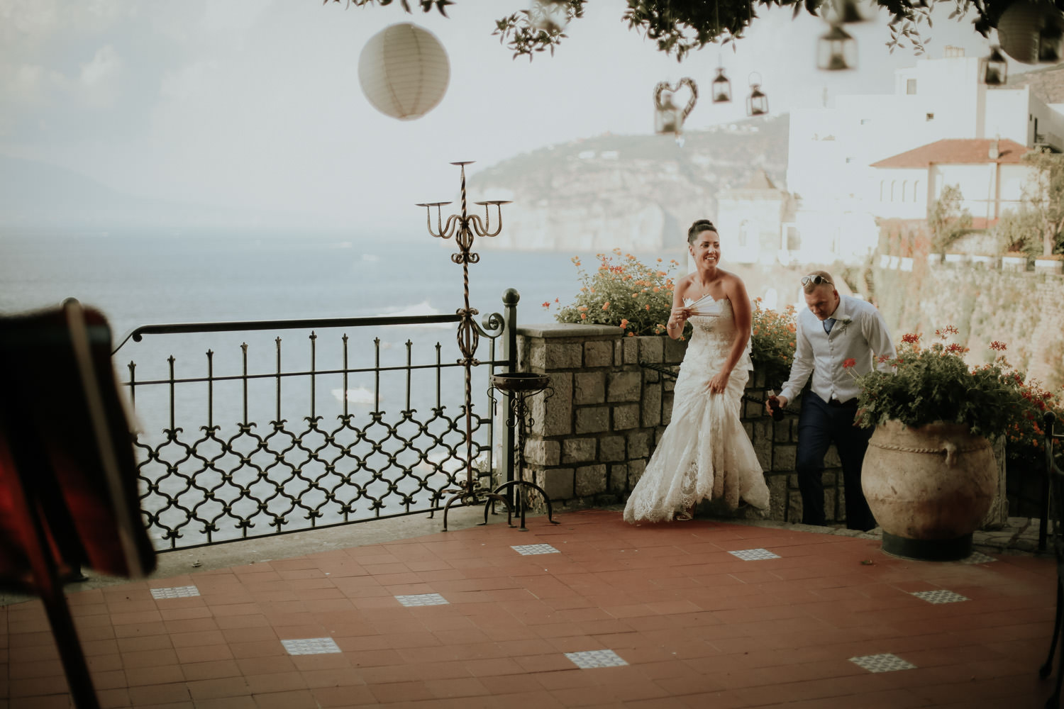 Wedding party at Villa Antiche Mura in Sorrento