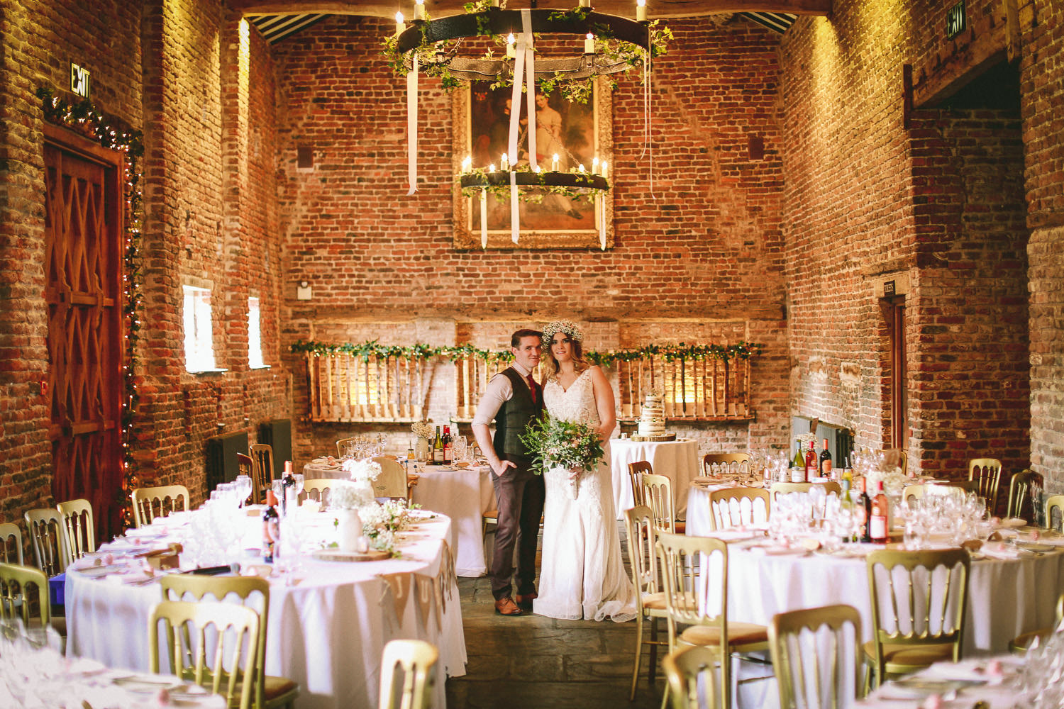 Bride and Groom inside Meols Hall Southport Top 10 wedding venues in Liverpool