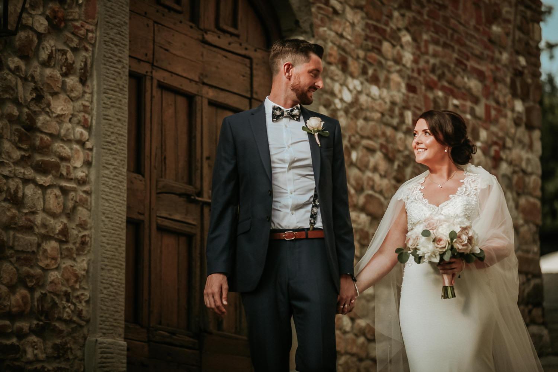Bride and groom portraits Castello di bibbione wedding photography Tuscany