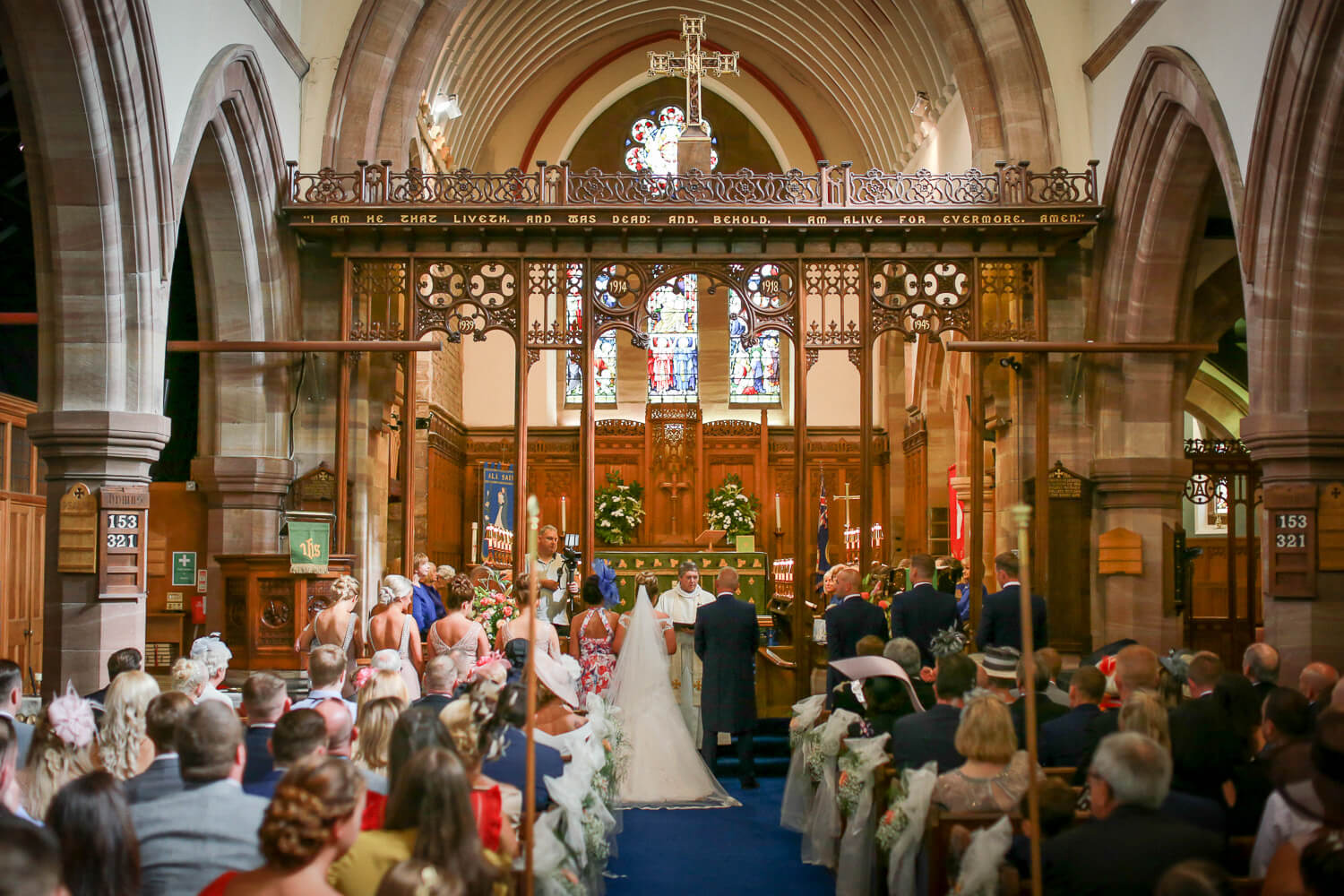 wedding photography Rainford Church Lancashire