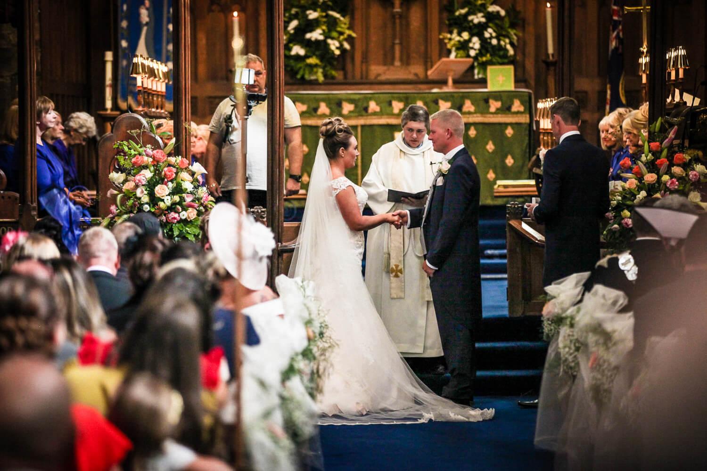 Natural black and white wedding photography Rainford Church Lancashire